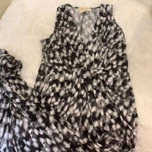 Beautiful gray tie dye Michael Kors maxi dress S